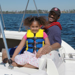 water safety-family on boat